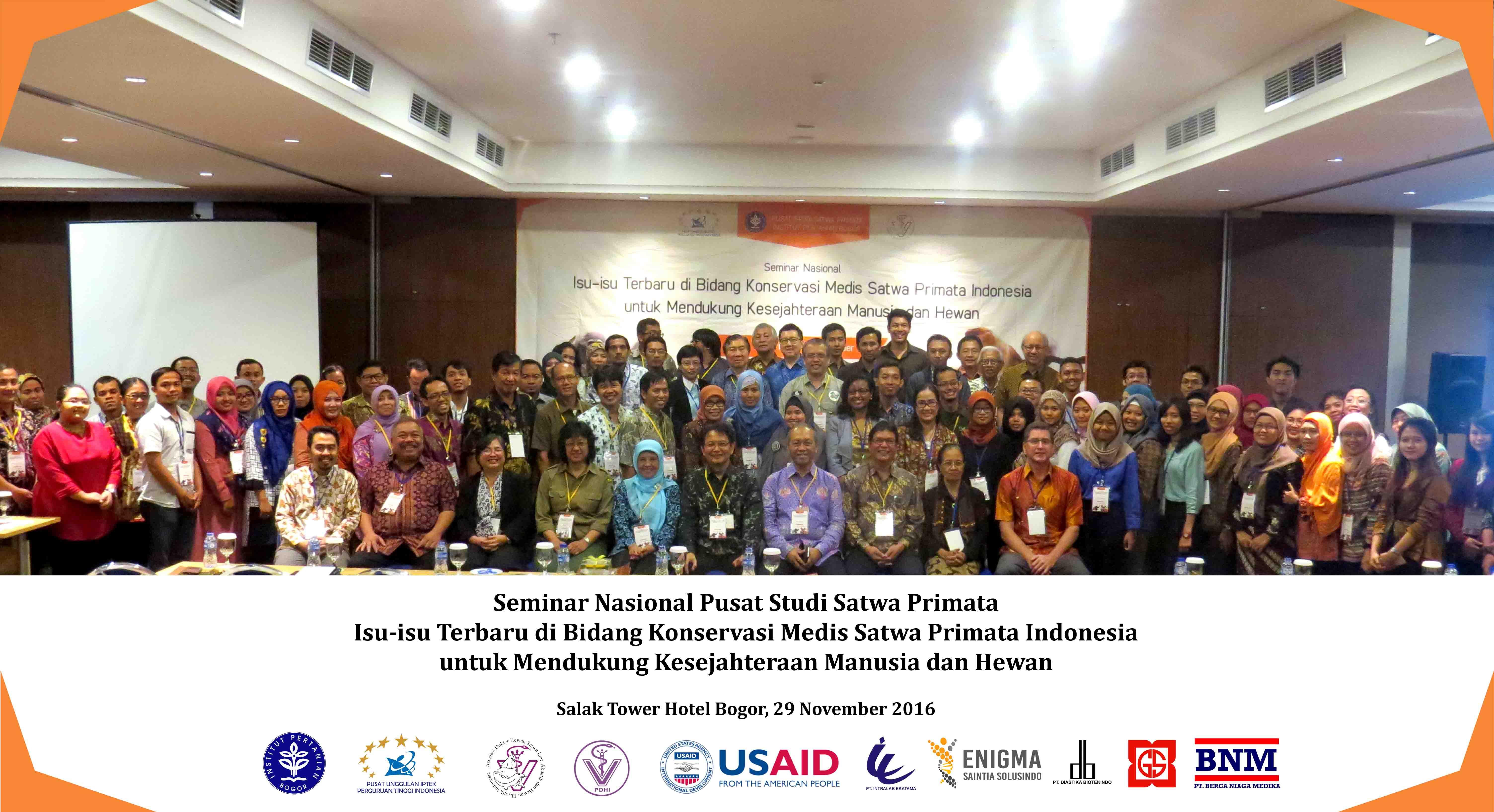 Peserta Seminar Nasional : Isu-isu Terbaru di Bidang Konservasi Medis Satwa Primata Indonesia untuk Mendukung Kesejahteraan Manusia dan Hewan