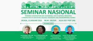 Seminar Nasional Konservasi dan Sumberdaya Universitas Sebelas Maret