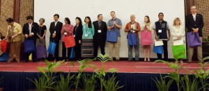 Dr. drh. Joko Pamungkas, MSc – Director of PRC-IPB, among others, received a certificate of appreciation as source person at Annual Conference of Asia-Pacific Biosafety Association (A-PBA) in Cebu, Philippines (3rd from the right)