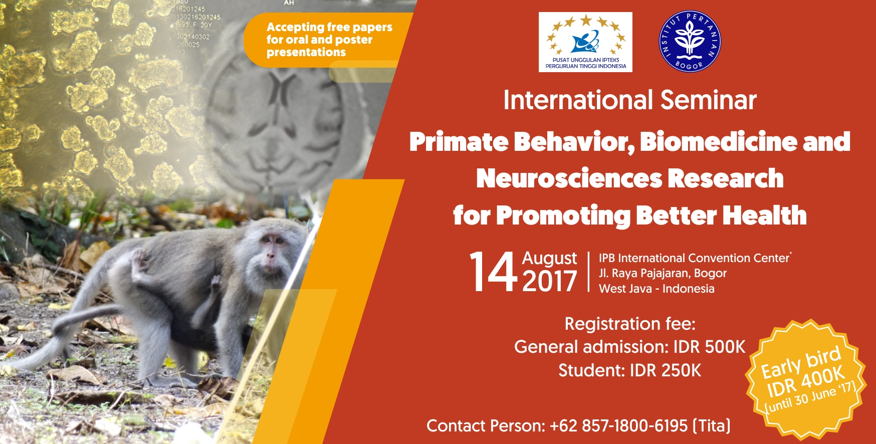 International Seminar: Primate Behavior, Biomedicine and Neurosciences Research for Promoting Better Health