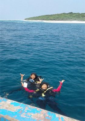 Kegiatan Mahasiswa Departemen Ilmu dan Teknologi Kelautan, Fakultas Perikanan dan Ilmu Kelautan IPB di Pulau Tinjil