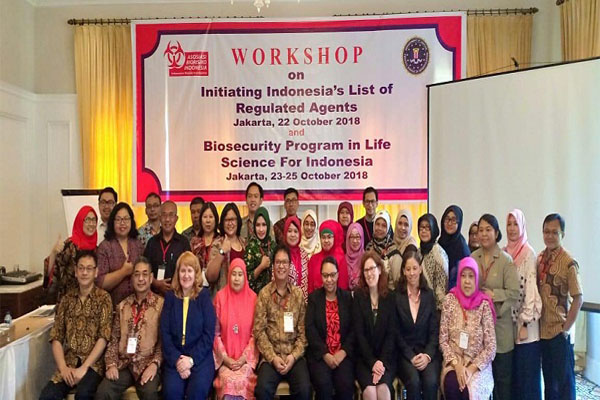 PSSP Research Staff invited in the Workshop on Initiating Indonesia's List of Regulated Agents and Biosecurity Programs in Life Science for Indonesia