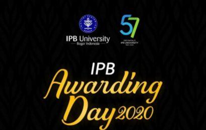 IPB Awarding Day 2020: PSSP sebagai Pusat Studi Terbaik Penelitian Hasil Kerjasama
