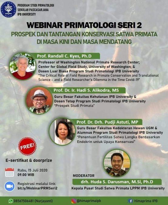 Webinar Primatologi Seri 2