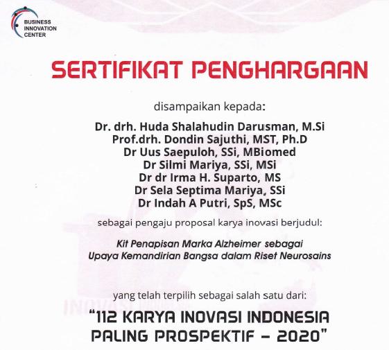 "Karya Inovasi PSSP Terpilih Sebagai ""112 Karya Inovasi Indonesia Paling Prospektif-2020"""