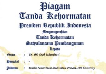 Peneliti Senior PSSP Raih Tanda Kehormatan Satyalencana Pembangunan