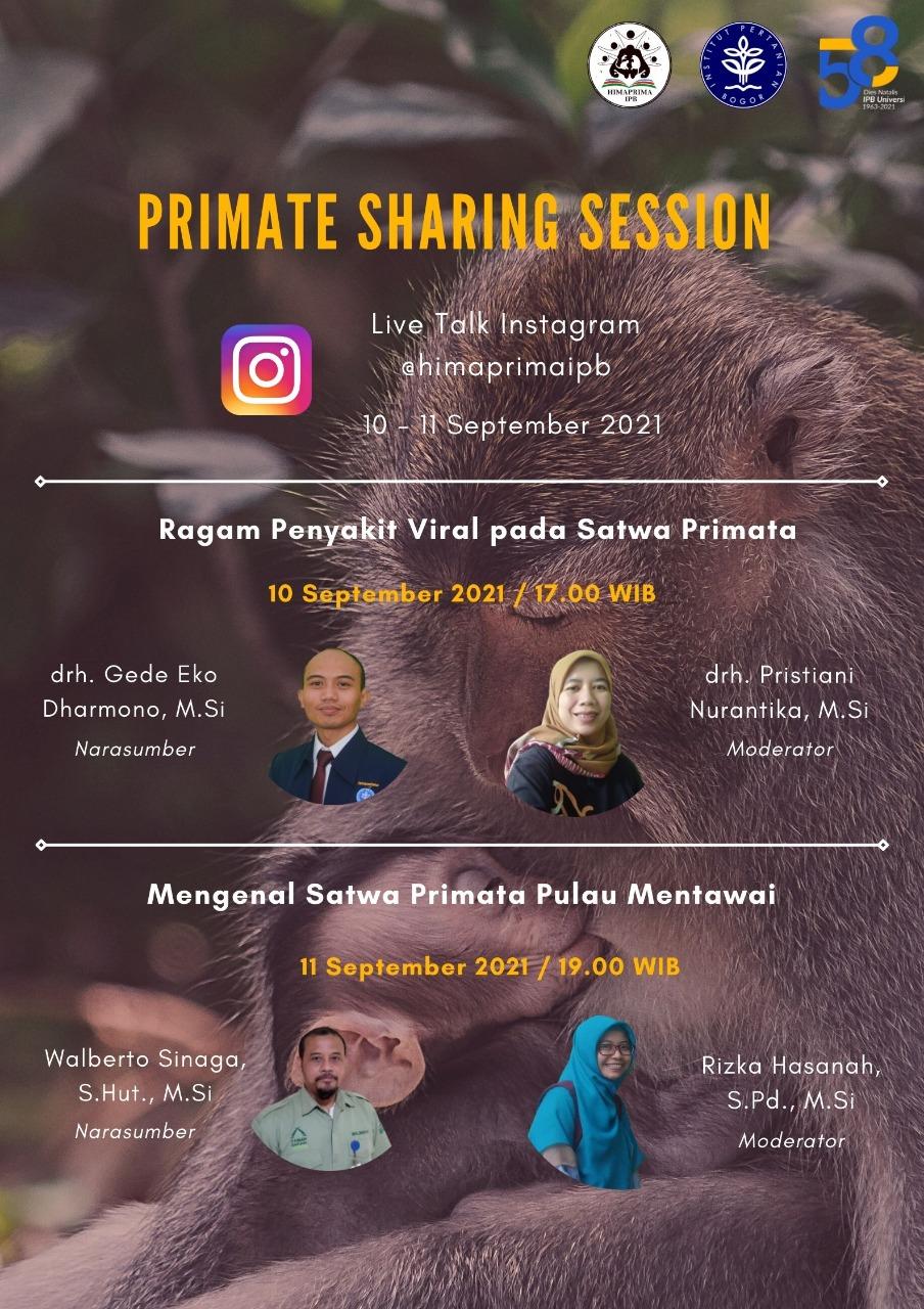 HIMAPRIMA Live Talk: Primate Sharing Session dalam rangka memperingati Dies Natalis IPB ke-58